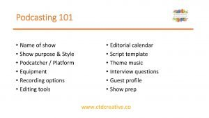 List of podcasting tips